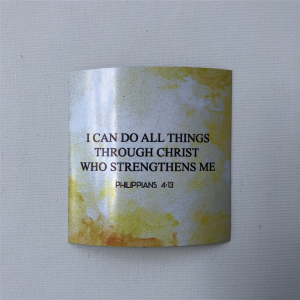 "Fridge Magnet -  ""I can do all things in Christ who strengthens me"""