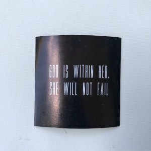 "Fridge Magnet - ""God is with her. She will not fail."""