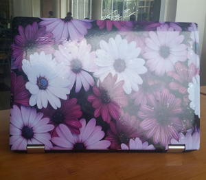 Purple Daisy Laptop Skin