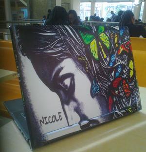 Butterflies Girl Art Laptop Skin