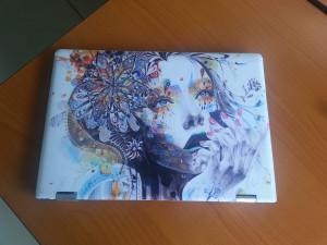 Abstract Art Girl Laptop Skin