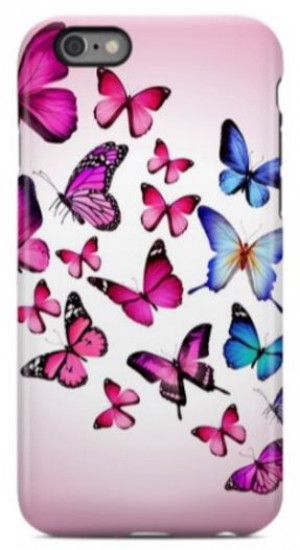 Pink Butterfly Phone Case