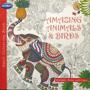 Adult Coloring Book - Amazing Animals & Birds