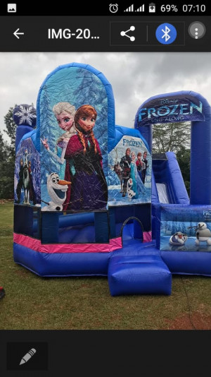 Frozen bouncing castle